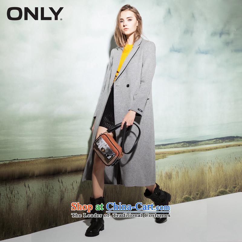 Load New autumn ONLY2015 included wool manually long hair so Sau San coats E|11536u002 female 104 light gray爈ight gray melange spend 160_80A_S