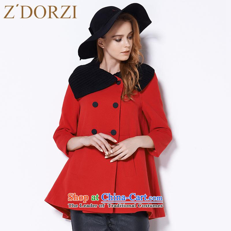 Colorful autumn ZDORZI Cheuk-load new knitting stitching A gross female jacket coat? 828467 redL