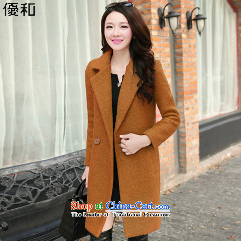 Optimize and�15 Fall_Winter Collections thick gross female long-sleeved jacket? wool coat燤N002 girl燼nd then color� L