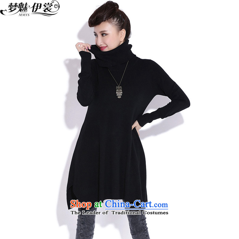 The staff of the Advisory Committee this autumn and winter xl female thick mm thin in the video long forming the knitwear high Long Neck Sweater Yi skirts are relaxd code black