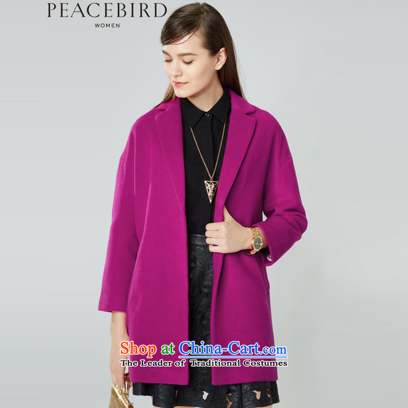 The elections on 26 November new products as women peacebird 2015 winter coats Lok shoulder new products in the red燬 A4AA54105