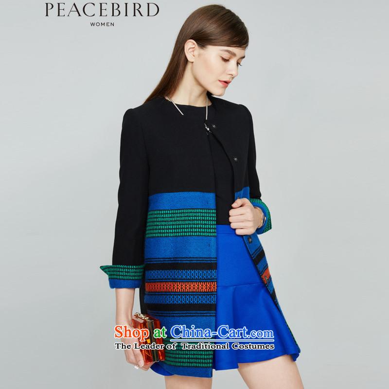 - New shining peacebird Women's Health 2015 winter coats of new products spell streaks A4AA54116 black燣