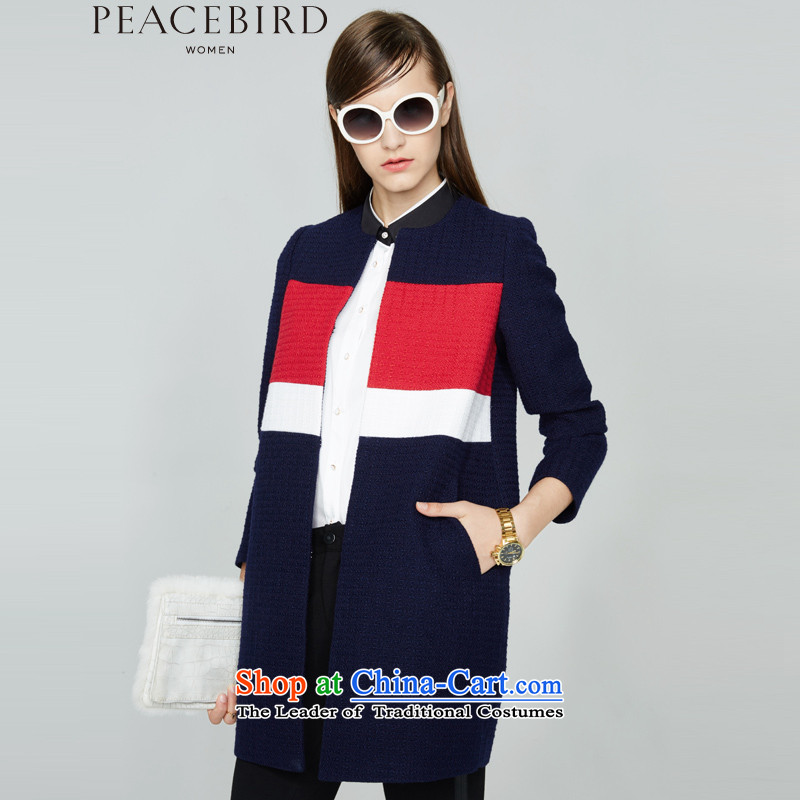 - New shining peacebird Women's Health 2015 winter coats of new products spell color A4AA54140 navyM