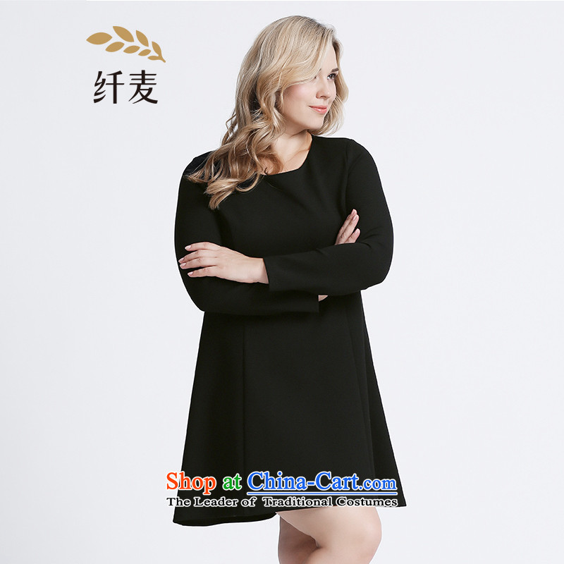 The former Yugoslavia Migdal Code women 2015 Autumn replacing new stylish mm thick split line black skirt�3101304燽lack�L