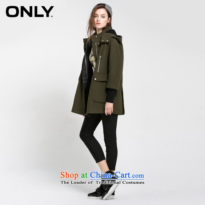Load New autumn ONLY2015 included wool removable cap in the long coats female T|11536t003 gross? 046 olive�0_80A_S