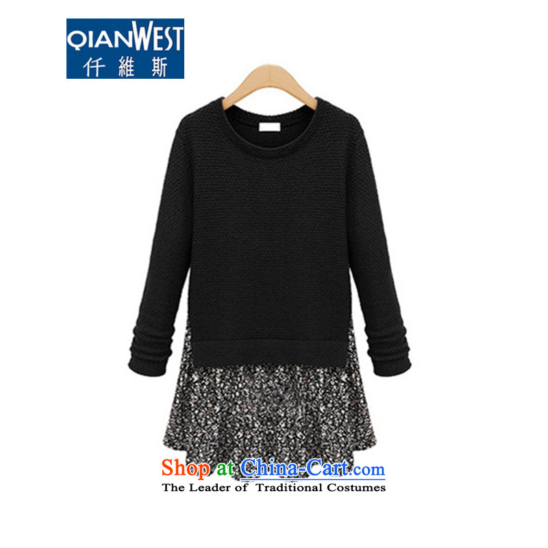 The Scarlet Letter,200 catties thick mm to xl female autumn and winter knitted dresses thick sister leave two extra-long skirt wear black5XL 646recommendations 180-215 weight catty