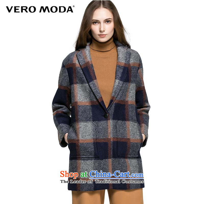 Moda stylish Western Wind vero spell color grid design of the Commonwealth Model gross |315327008 031 dark blue jacket?�0_80A_S