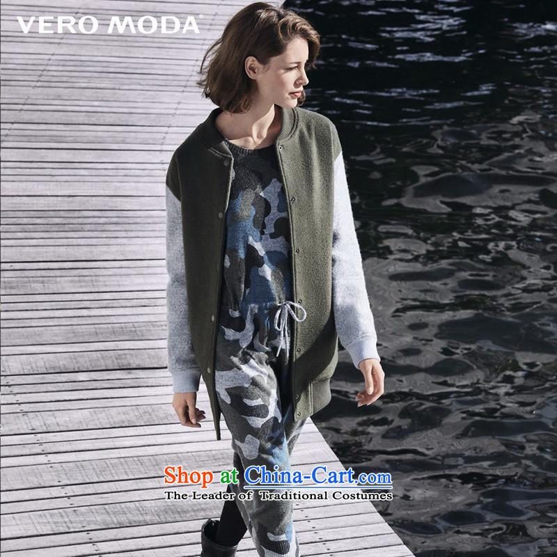 Vero moda Street knocked wind-color baseball gross? jacket |315327025 Army Green160_80A_S 043