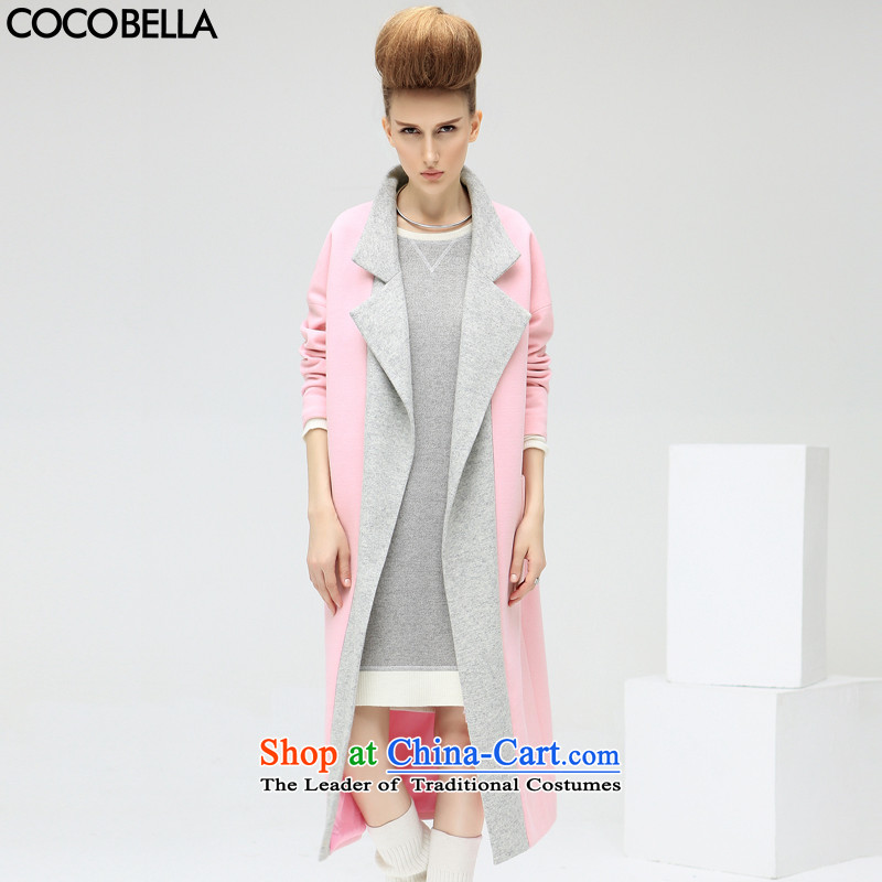Cocobella 2015 autumn and winter new western handsome long) female knocked color display thin hair? jacket CT325 dandelion toner M