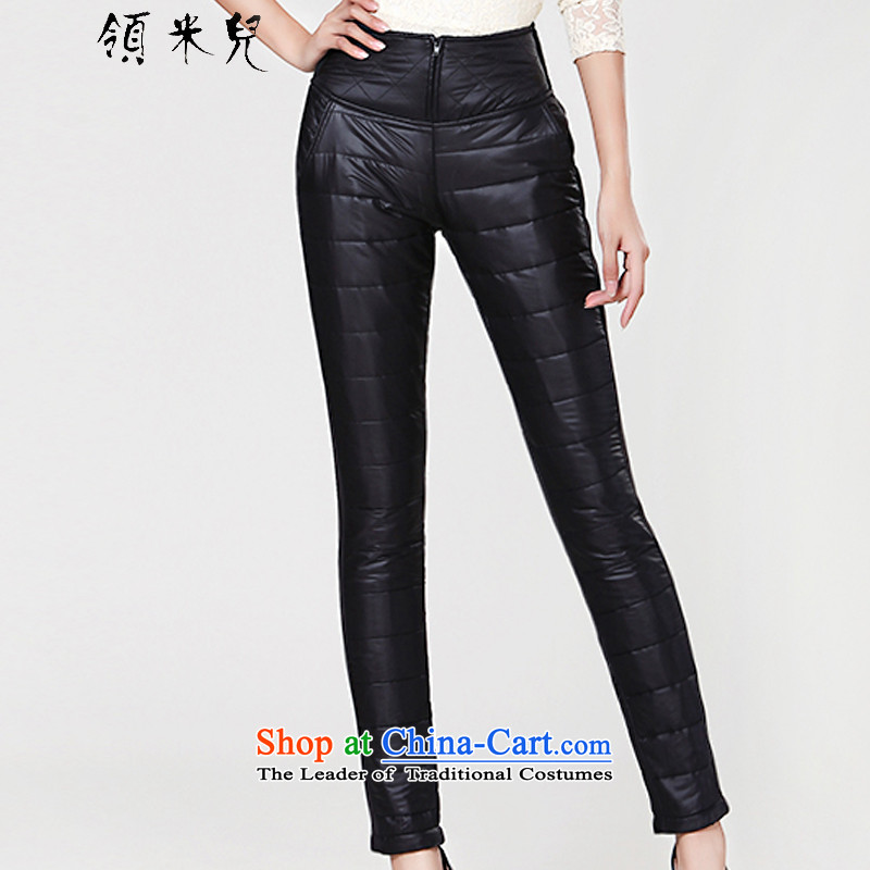 For M- 2015 to increase the number of ladies Fall/Winter Collections new casual pants thick, Hin thin cotton pants, forming the winter feather H3072 black 3XL trousers