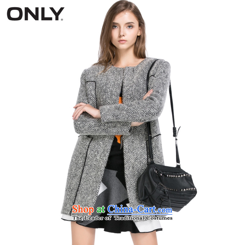 Load New autumn ONLY2015 included wool geometric patterns? coats female E_ Gross 11534S009 | White爓hite 175_92A_XL 020
