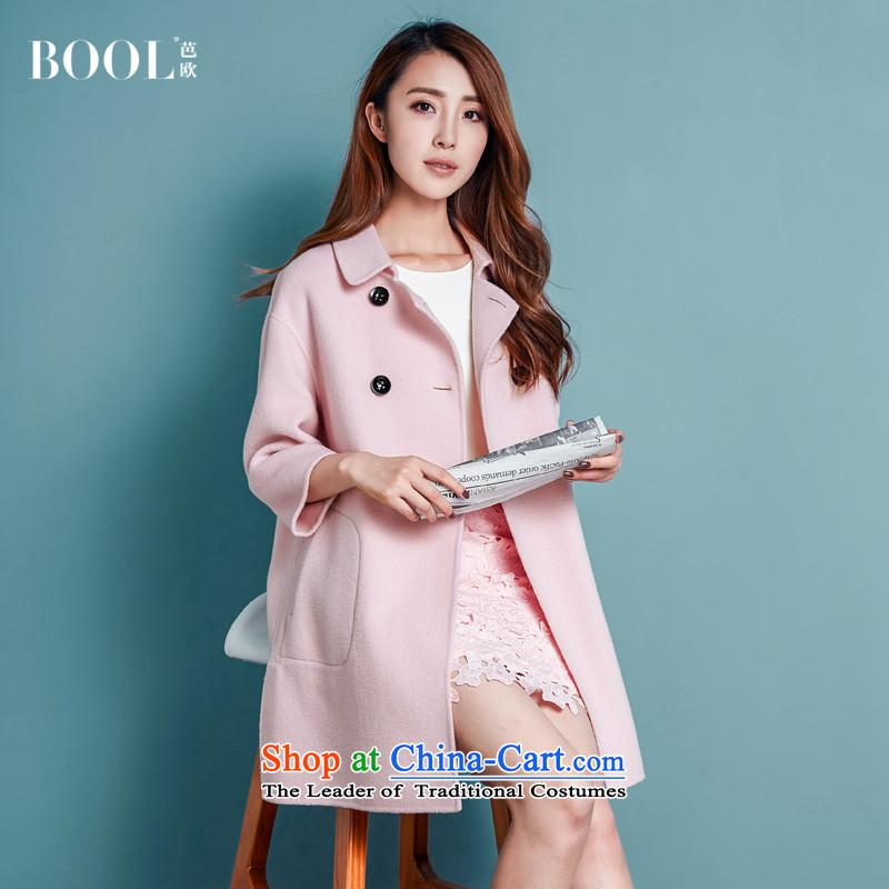 Barbara Europe 2015 autumn and winter new products-sided flannel female Korean version of the long hair? hand-jacket a wool coat sakura toner燬