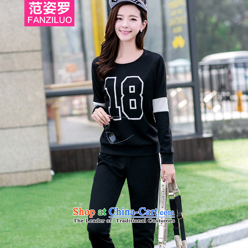 Mrs Lo to Gigi Lai xl female thick MM Mount kit 2015 fall thick sister two kits casual wear loose stamp sweater C.O.D.�L_ recommendations 160-175 black catties_
