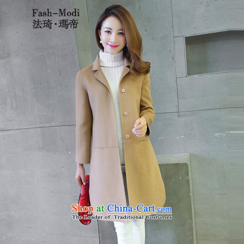 Law Chi Princess Royal 2015 autumn and winter new products woolen coat female high-end and color燤.