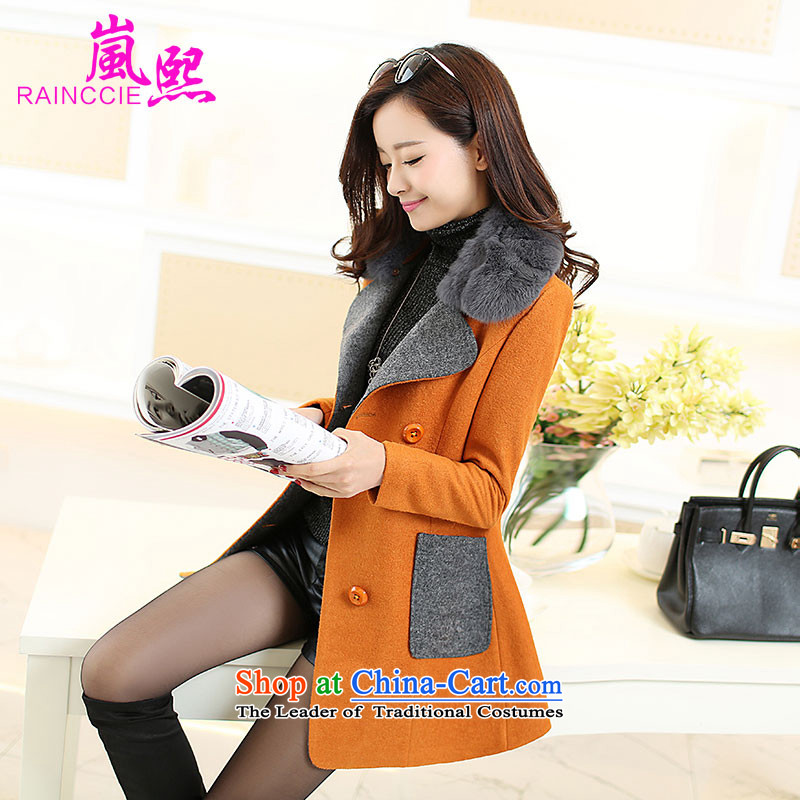 Included gross Hee-coats female jacket? 2015 autumn and winter female new a windbreaker. Long Korean lapel loose video thin double-kim and燣