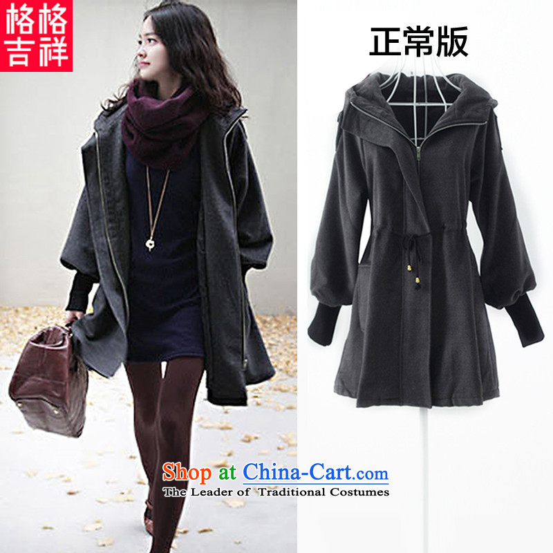 The interpolator auspicious 2015 to increase the number of ladies Fall_Winter Collections New Foutune of video thin coat of leisure in gross? Long Folder cotton fan jacket H323 Gray normal 3XL Version