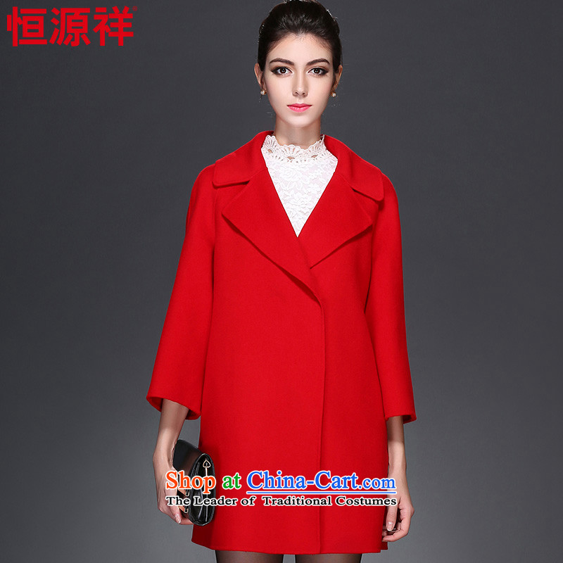 Hang Cheung duplex wool can source coats female new suit autumn 2015 for women in the gross? jacket long red 165/88A(L) no. 2 8905