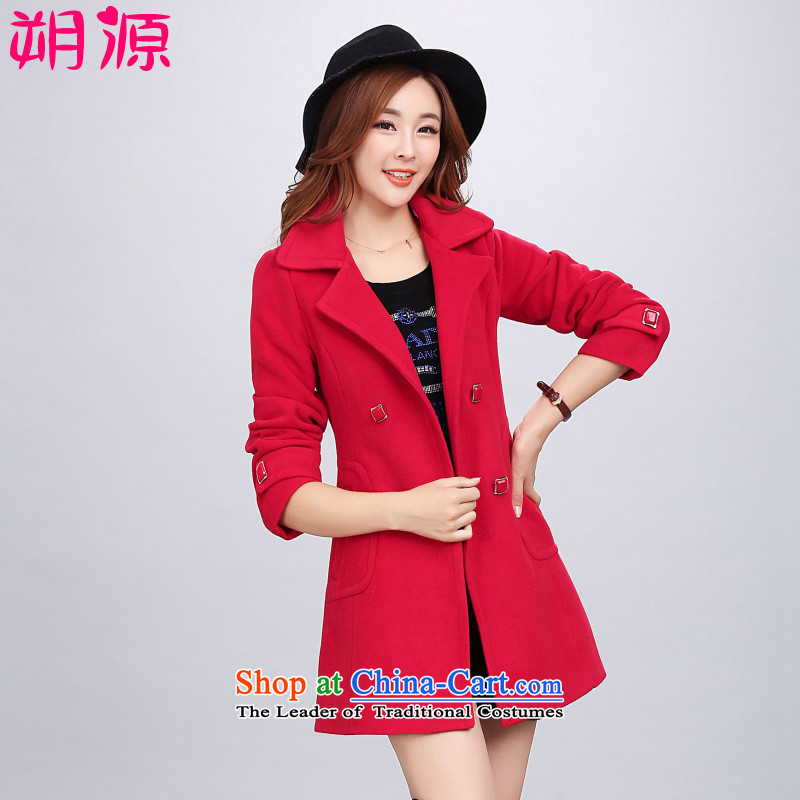 To overcome the source for燼utumn and winter 2015 new women's stylish coat women gross Sau San? autumn and winter is simple and stylish quality? The Red燣