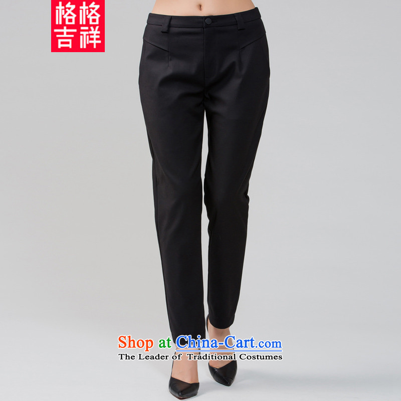 The interpolator auspicious 2015 to increase the number of women in the autumn of New mm thick Sau San video casual pants trousers ere thin trousers K5592 black 2XL