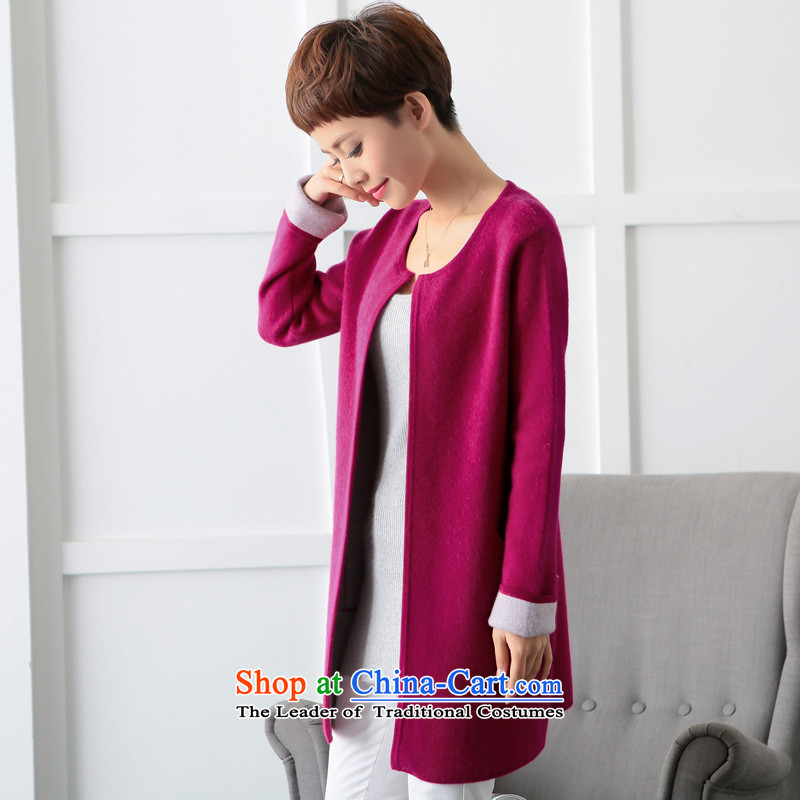 Lint-free 歆 Workshop 2015 autumn and winter double-side woolen coat new gross? a Korean female jacket version of the RedVelvet 歆 M Fong (rongxinfang) , , , shopping on the Internet