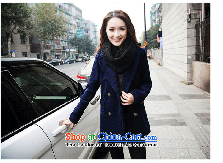 Xiang Jiang聽2015 new thick mm200 catty to increase women's code in long-jacket thick sister autumn new shirts聽825聽dark blue聽5XL picture, prices, brand platters! The elections are supplied in the national character of distribution, so action, buy now enjoy more preferential! As soon as possible.