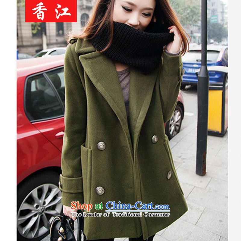 Xiang Jiang聽2015 new thick mm200 catty to increase women's code in long-jacket thick sister autumn new shirts聽825聽dark blue聽5XL, Xiangjiang , , , shopping on the Internet