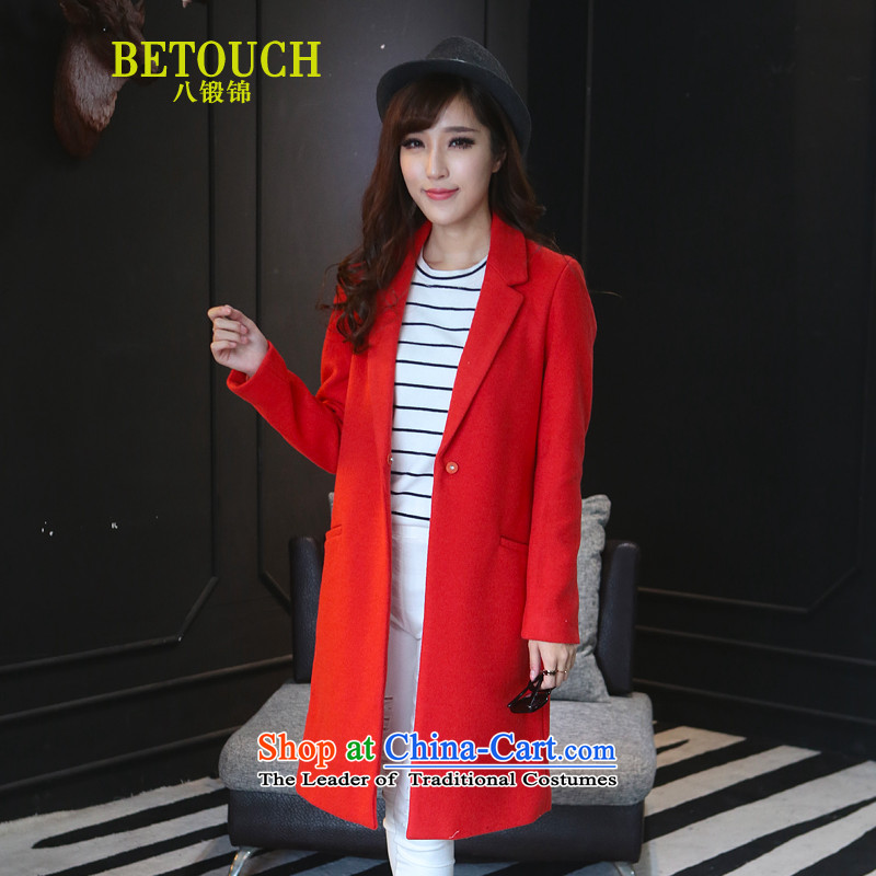 8 forged Kam 2015 autumn and winter coats cashmere won the new version of the long a gross coats female A8072? The red-orange M