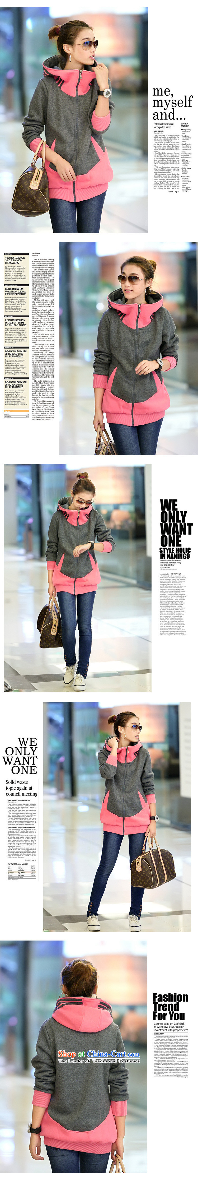 The ad to increase missdonut code ladies casual clothing of 200 catties autumn and winter thick mm in length) Video sister thin cap sweater jacket female large blue code 3XL picture, prices, brand platters! The elections are supplied in the national character of distribution, so action, buy now enjoy more preferential! As soon as possible.