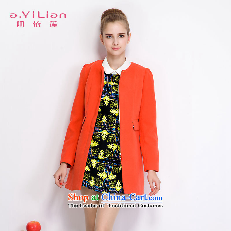 Aida 2015 Autumn Load New Lin, Korean and Sau San over the medium to longer term gross jacket female presence among the? a wool coat DS43352935 sunshine orange�  M