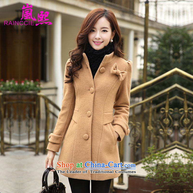 Included gross Hee-jacket coat 2015? female autumn and winter female new a windbreaker. Long Korean collar loose video thin single row detained and color燣