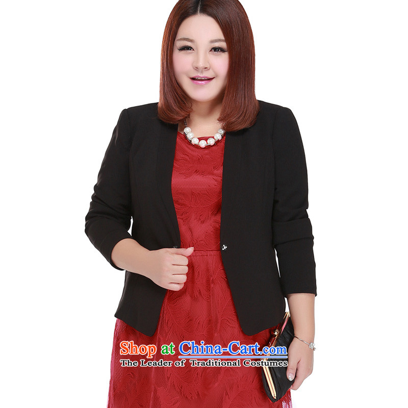 To increase the number msshe women 2015 new fall thick MM attire with small jacket 10108 Black�L
