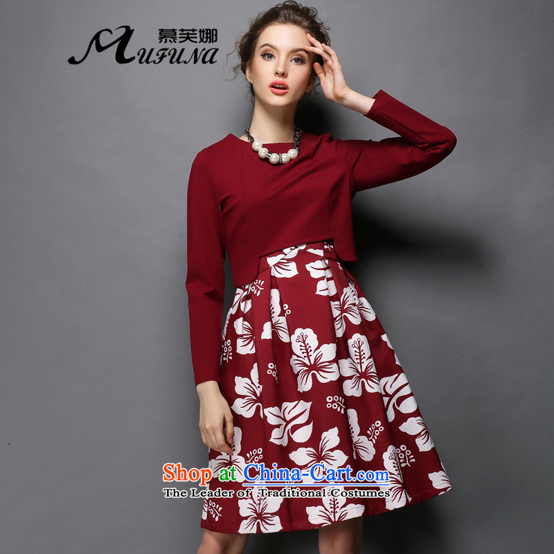 Improving access to the increase in women's code 2015 Fall/Winter Collections thick mm stamp two kits dresses thick mm thin forming the graphics skirtG317BOURDEAUX2XL
