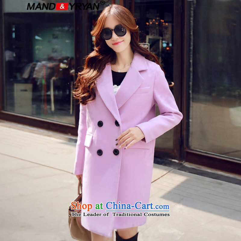 Mantile en code women for winter coats girl in gross? long thick MM loose video thin hair a wool coat figure /MDR2579 XXXL150-160 around 922.747