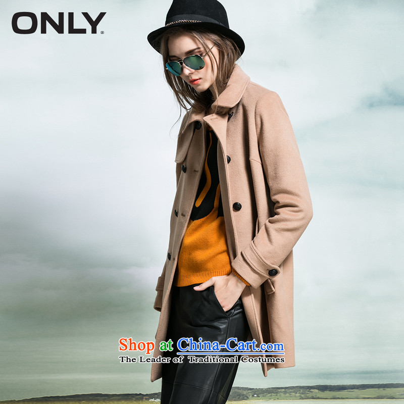 Load New autumn ONLY2015 included wool double row is plush coat female L|11534s019? 132 deep and dark camel 155_76A_XS