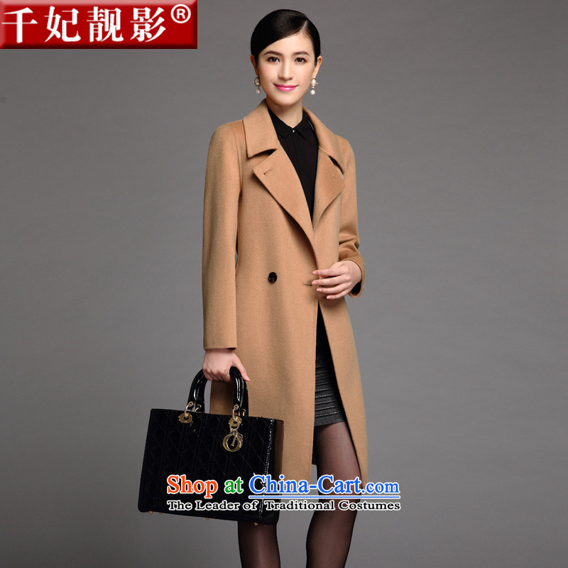 Thousands of Princess talks shadow 2015 Western style woolen coat suits for double-side cashmere overcoat Sau San female) long and color L