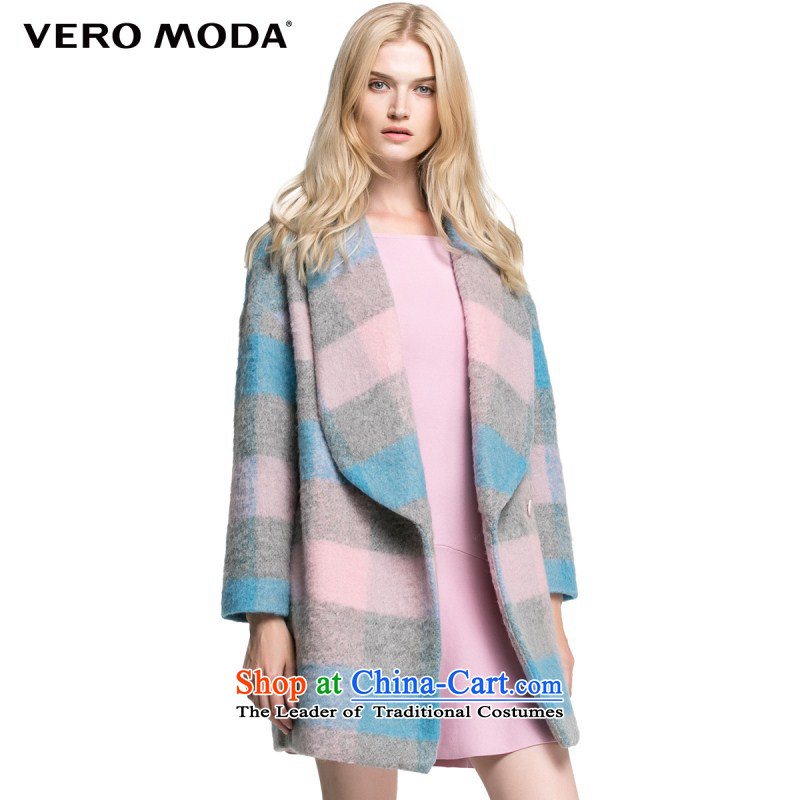 Vero moda creative color blocks stitching straight from the simplest type thick wool coat female |315327009? 091 160_80A_S light violet