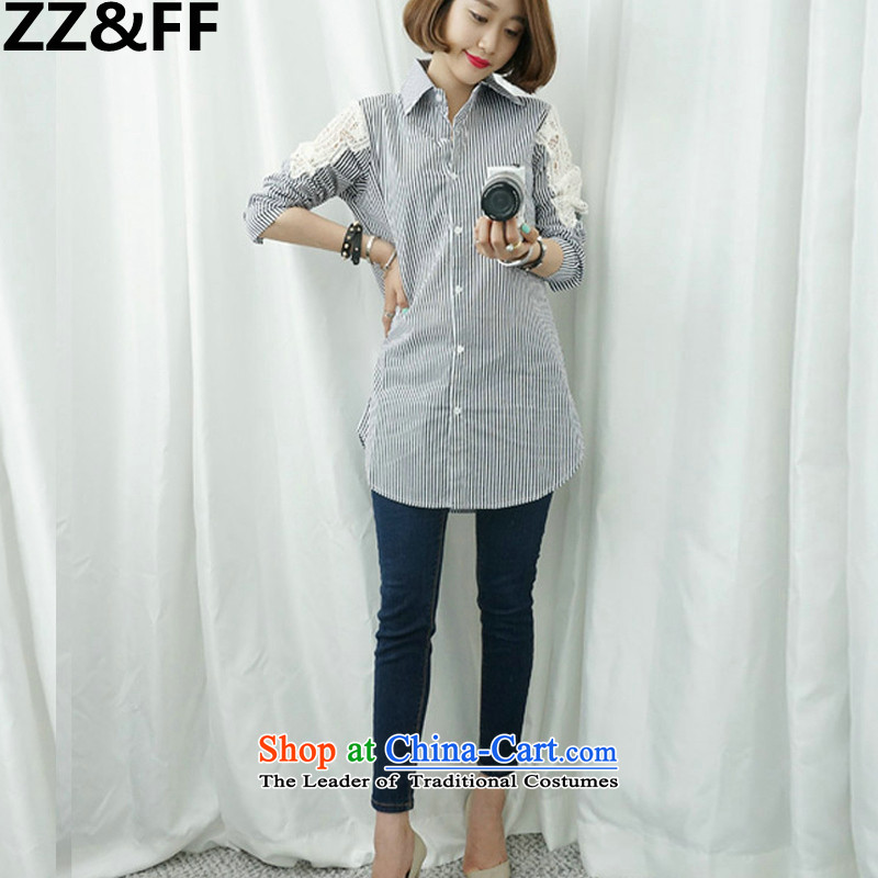 2015 new products Zz_ff Code women of autumn and winter won 200 MM thick loose video catty thin clothes, forming the shirt color pictureXXL_ female recommendations 120-140 catties_