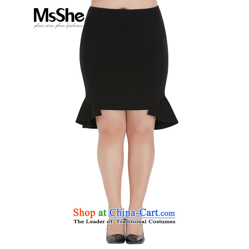 To increase the number msshe women 2015 new fall thick MM in replacing the lumbar crowsfoot skirt body skirt 2518 black T3