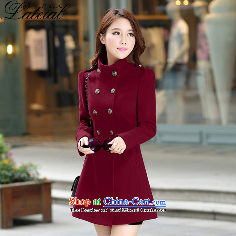 Pull economy-�15 autumn and winter new women's winter coats female hair_?? jacket won for the graphics in large thin long hair? coats�8-1爓ine red燬