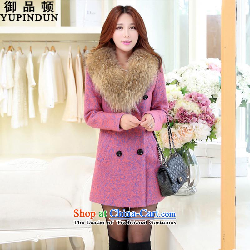 The mercy of Clinton coats, wool? long hair? jacket female a wool coat 2015 autumn and winter New Women Korean OL commuter Sau San for coats women so gross light purpleM