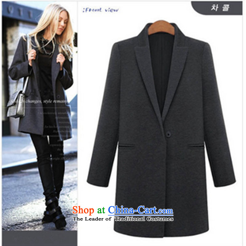 In 2015 the new Nora 200 catties to increase women's code thick mm autumn and winter coats in long graphics thin windbreaker jacket, black聽XXXL Thin