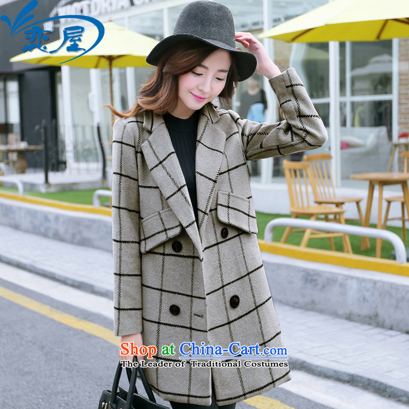2015 Fall_Winter Collections of New England, gross?_ Europe and thick female coats and stylish wool a wool coat jacket female gray cells燤