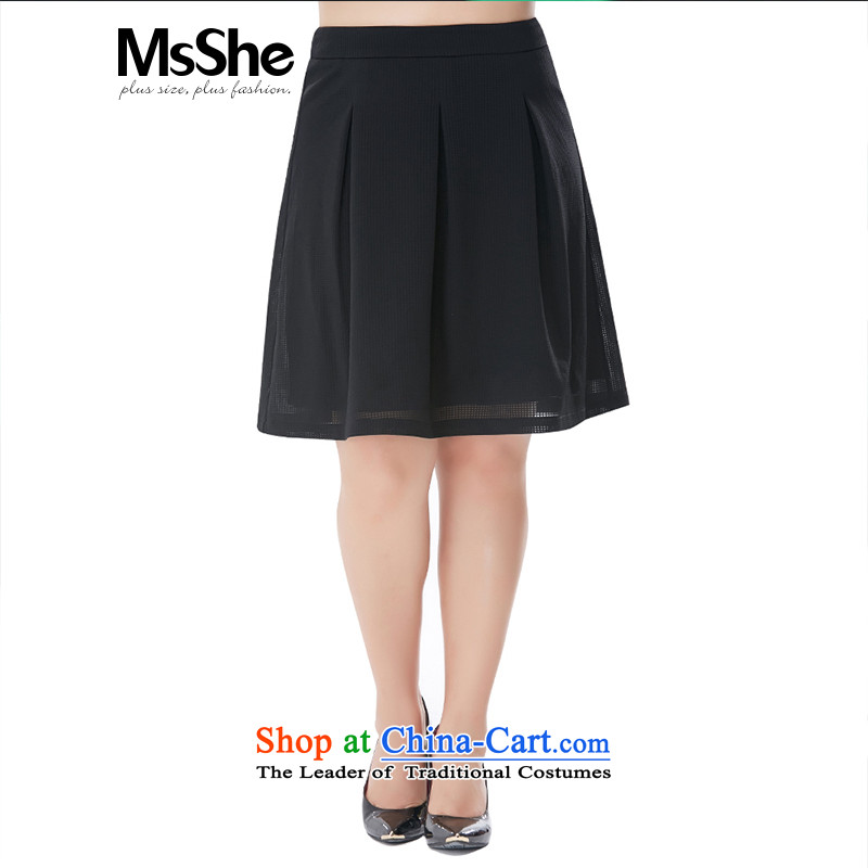 To increase the number msshe women 2015 new thick sister autumn casual A swing body 200 catties 10282 skirt聽6XL black