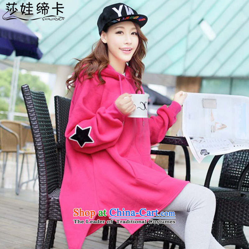 Elisabeth wa concluded card to increase women's code 200 catties jacket thick girls' Graphics thin, extra-thick winter female Tien larger thick sister Ms. new expertise in the big red version mm XL 160 to 200 catties can penetrate