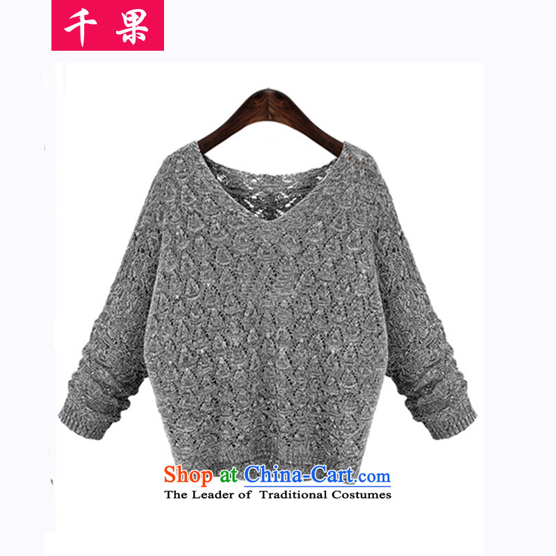 Thousands爋f Europe and the results of the 2015 autumn to increase expertise thick MM empty V for courage wide video thin sweater large load autumn 5977 knitted sweaters female picture color�L175-215 around 922.747