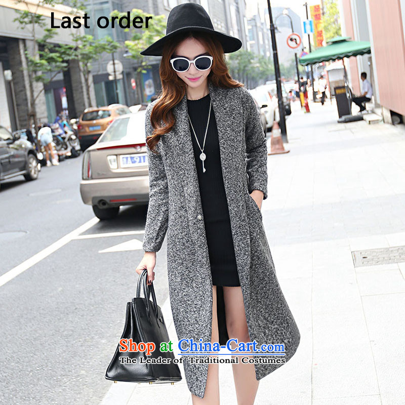 Last autumn and winter load new order2015 product code women, wool a wool coat wind jacket female gray燤