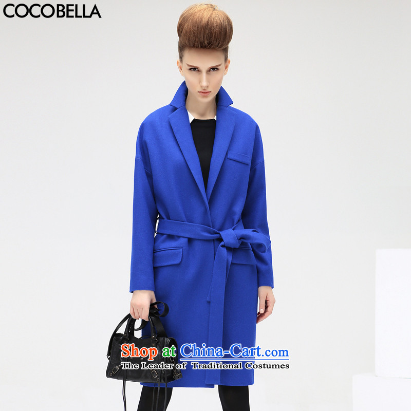 2015 Autumn and Winter Europe COCOBELLA OL commuter wool plush? jacket Sau San female CT320 Blue?M