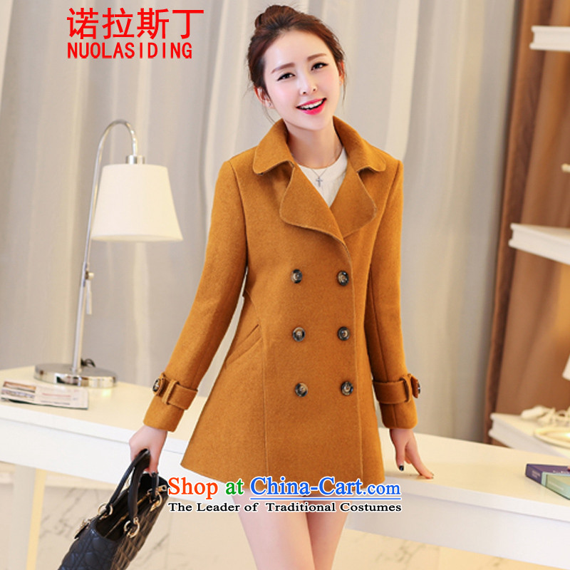 Noras Ding autumn 2015 replacing the new Korean citizenry elegant thick a wool coat jacket in gross? Long Large cloak and color燬