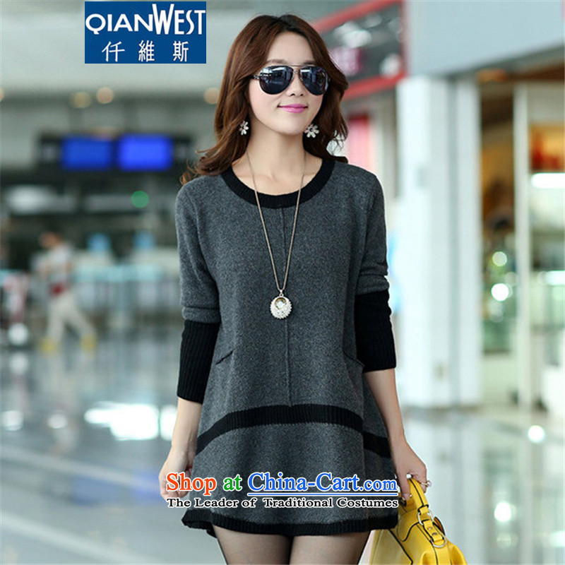 The Scarlet Letter, larger lady knitted sweaters聽autumn 2015, large groups in MM long Sleek and versatile sweater, forming the skirt聽3XL gray聽recommended weight of 1,798 such funds worldwide 160-180 catty