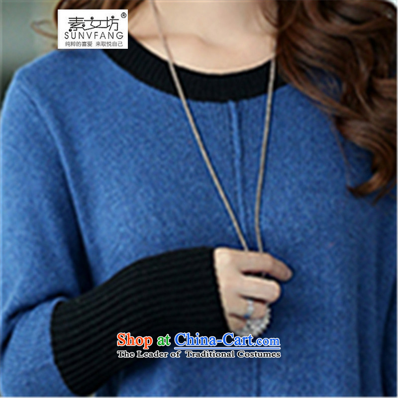 Motome workshop for larger female sweater dresses autumn 2015, large groups in MM long Sleek and versatile sweater, forming the skirt 3XL blue recommended weight of 1,798 such funds worldwide 160-180, Motome Fong (SUNVFANG) , , , shopping on the Internet